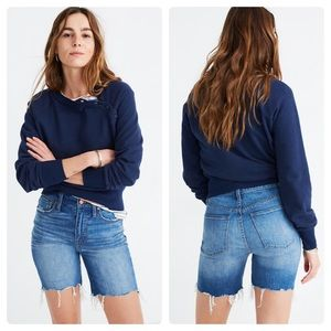 NWOT Madewell High-Rise Denim Mid-Length Shorts